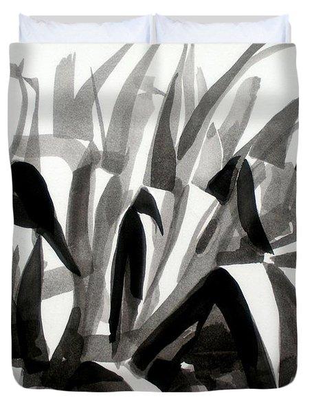 After The Iris Blooms Have Fallen Duvet Cover by Kip DeVore