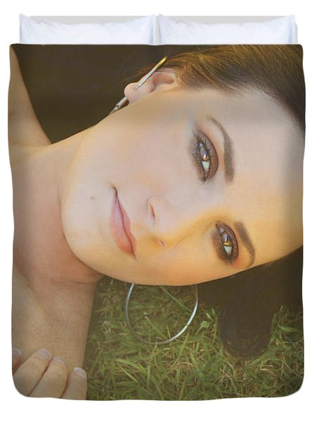 After the Picnic Duvet Cover by Laurie Search