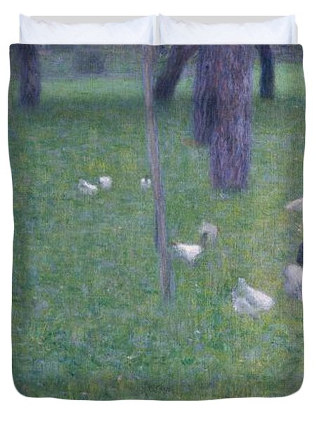 After The Rain Duvet Cover by Gustav Klimt
