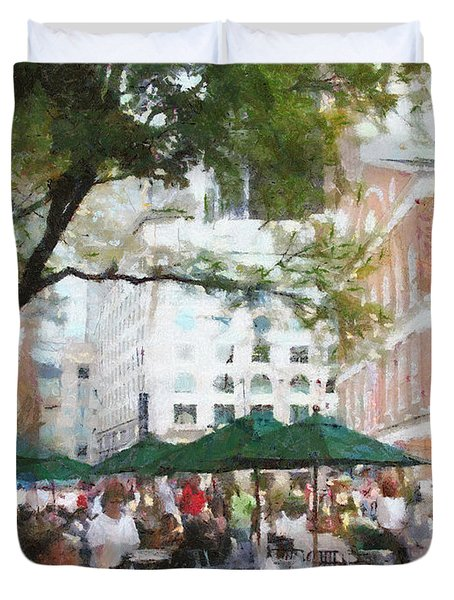 Afternoon at Faneuil Hall Duvet Cover by Jeff Kolker