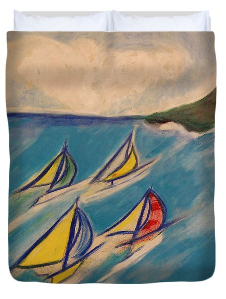Afternoon Regatta by jrr Duvet Cover by First Star Art