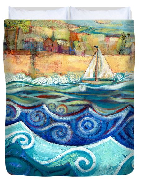 Afternoon Sail Duvet Cover by Jen Norton