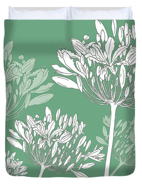 Agapanthus Breeze Duvet Cover by Sarah Hough