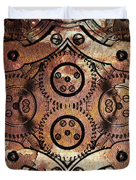 Age Of The Machine 20130605rust vertical Duvet Cover by Wingsdomain Art and Photography