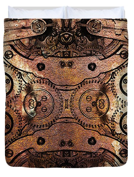 Age Of The Machine 20130605rust Duvet Cover by Wingsdomain Art and Photography