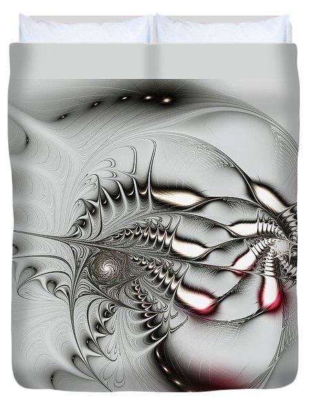 Aggressive Grey Duvet Cover by Anastasiya Malakhova