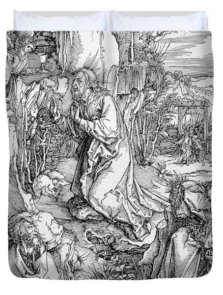 Agony In The Garden From The 'great Passion' Series Duvet Cover by Albrecht Duerer