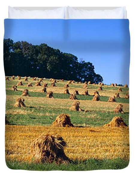 Agriculture - Contour Strips Duvet Cover by Timothy Hearsum