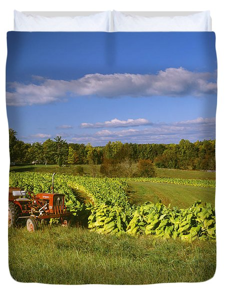 Agriculture - Fields Of Maturing Flue Duvet Cover by R. Hamilton Smith