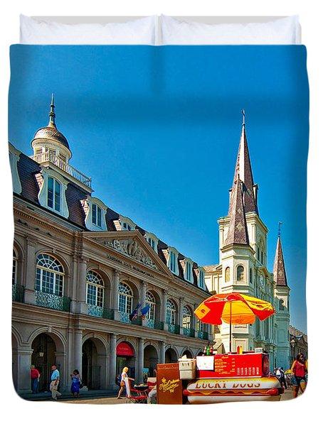 Ahh...New Orleans Duvet Cover by Steve Harrington