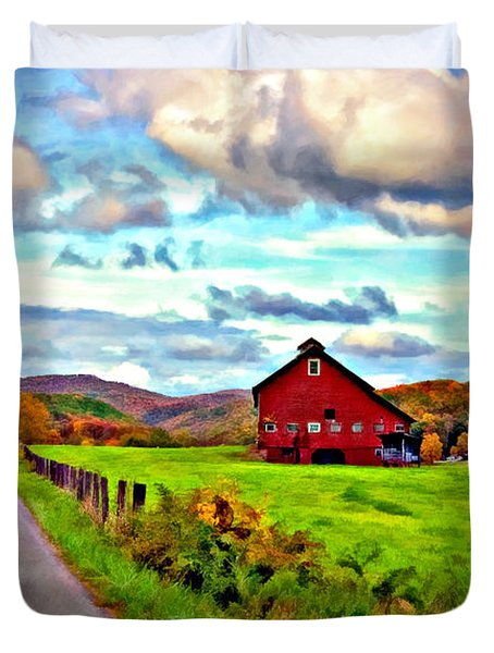 Ah...West Virginia oil Duvet Cover by Steve Harrington