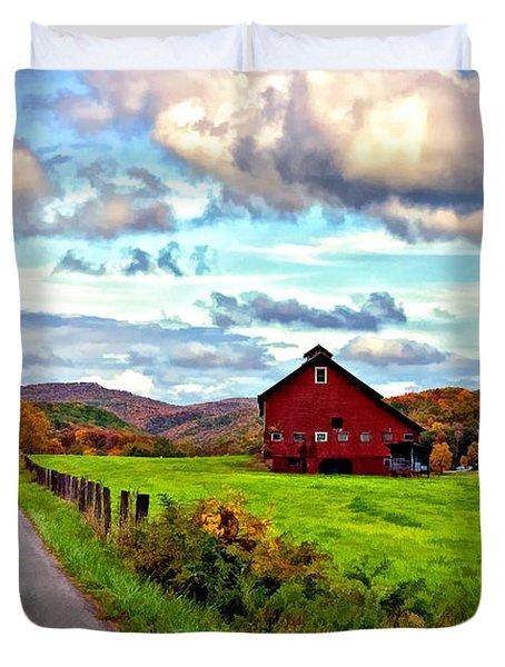 Ah...west Virginia Painted Duvet Cover by Steve Harrington