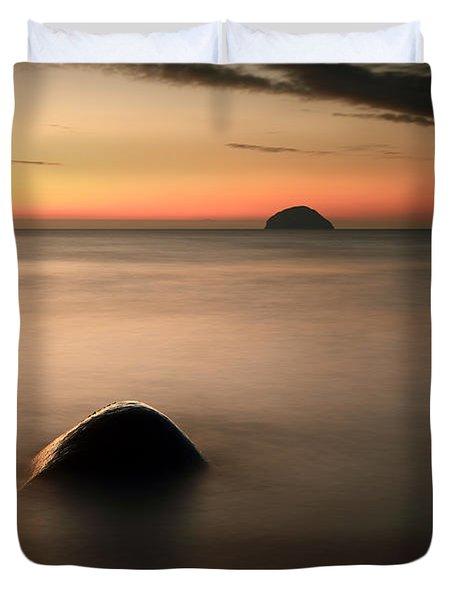 Ailsa Craig Sunset Duvet Cover by Grant Glendinning