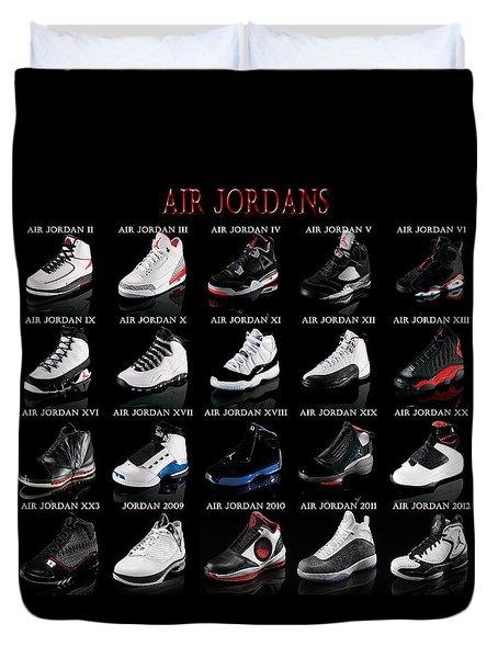Air Jordan Shoe Gallery Duvet Cover by Brian Reaves