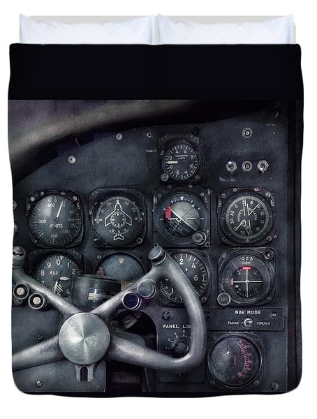 Air - The Cockpit Duvet Cover by Mike Savad