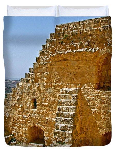 Ajlun Castle in Jordan Duvet Cover by Ruth Hager