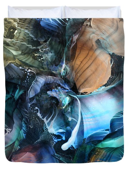 Akashic Memories From Subsurface Duvet Cover by Cristina Handrabur