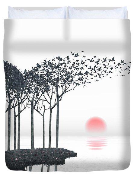 Aki Duvet Cover by Cynthia Decker