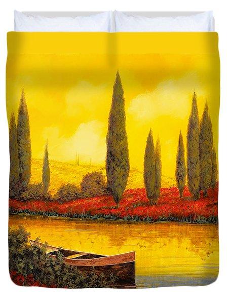 Al Tramonto Duvet Cover by Guido Borelli