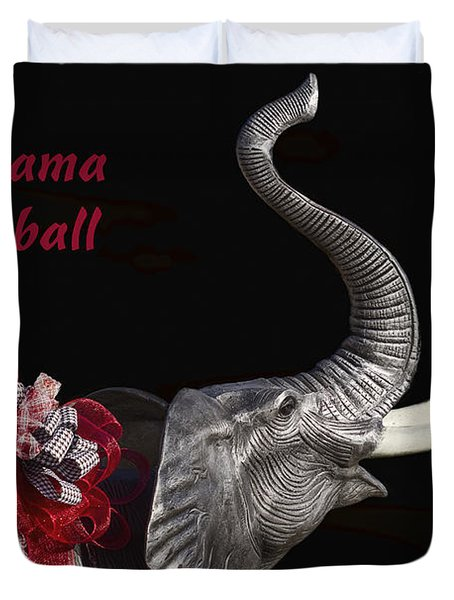 Alabama Football Roll Tide Duvet Cover by Kathy Clark