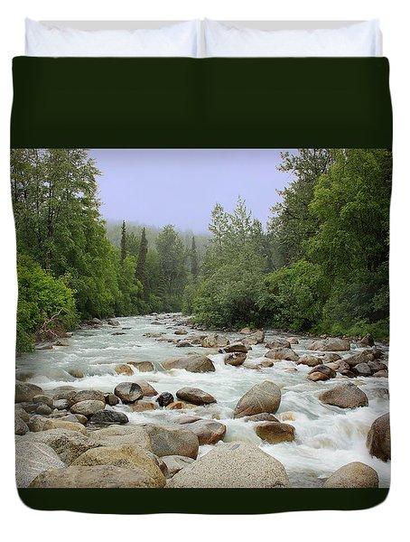 Alaska - Little Susitna River Duvet Cover by Kim Hojnacki