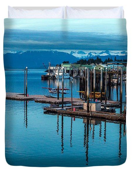Alaska Seaplanes Duvet Cover by Mike Reid