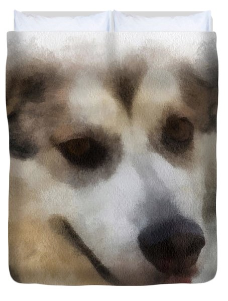 Alaskan Malamute Photo Art 08 Duvet Cover by Thomas Woolworth