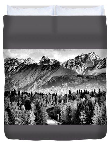 Alaskan Mountains Duvet Cover by Katie Wing Vigil
