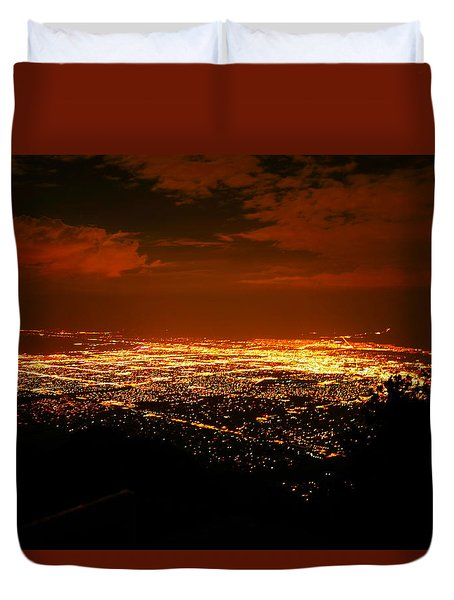 Albuquerque New Mexico  Duvet Cover by Jeff Swan
