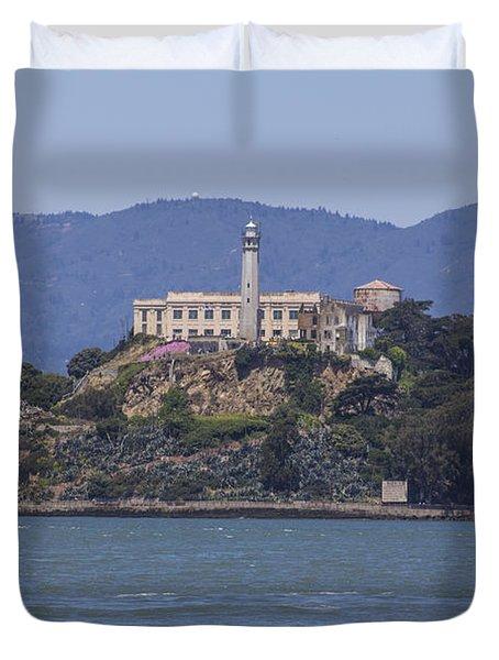 Alcatraz Island Duvet Cover by John McGraw