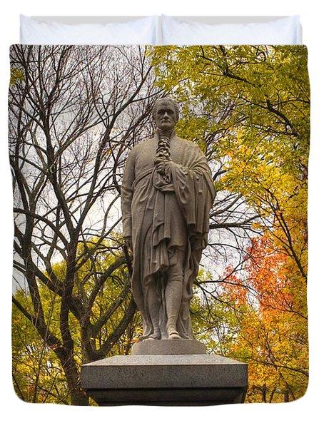 Alexander Hamilton Statue Duvet Cover by Joann Vitali