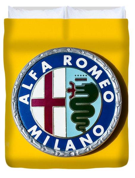 Alfa Romeo Emblem Duvet Cover by Jill Reger