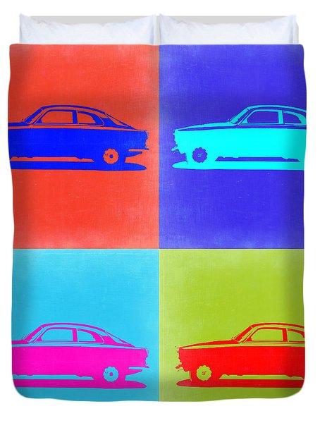 Alfa Romeo Gtv Pop Art 2 Duvet Cover by Naxart Studio