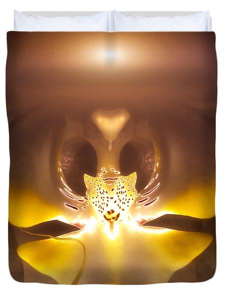 Alien Orchid Duvet Cover by Wim Lanclus