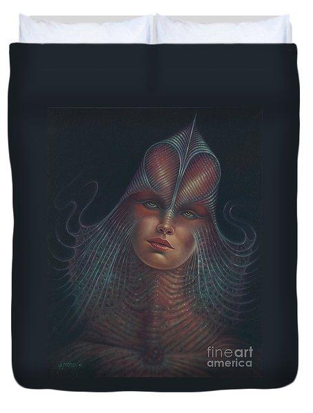 Alien Portrait Il Duvet Cover by Ricardo Chavez-Mendez