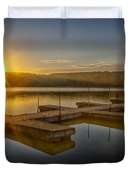 All By Myself Duvet Cover by Jeff Burton