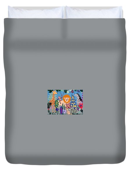 All Creatures Great And Small Duvet Cover by Joyce Gebauer