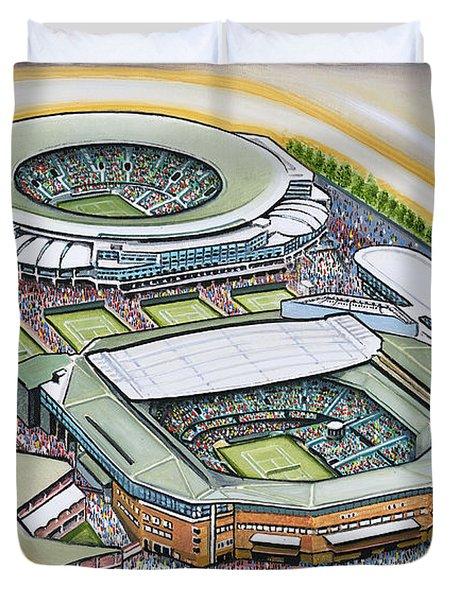 All England Lawn Tennis Club Duvet Cover by D J Rogers