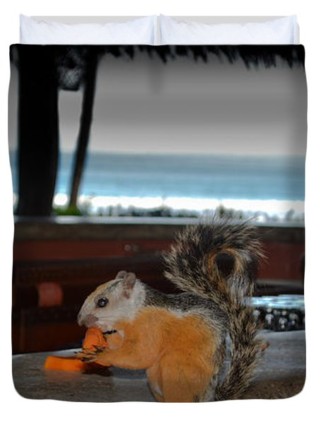 All Inclusive Squirrel Duvet Cover by Gary Keesler