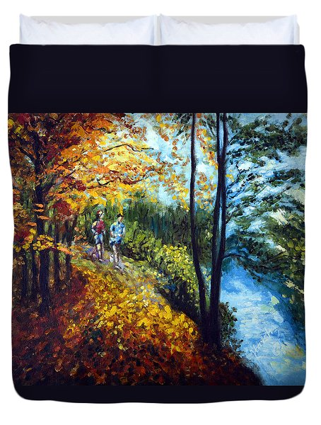 Alley By The Lake 1 Duvet Cover by Harsh Malik
