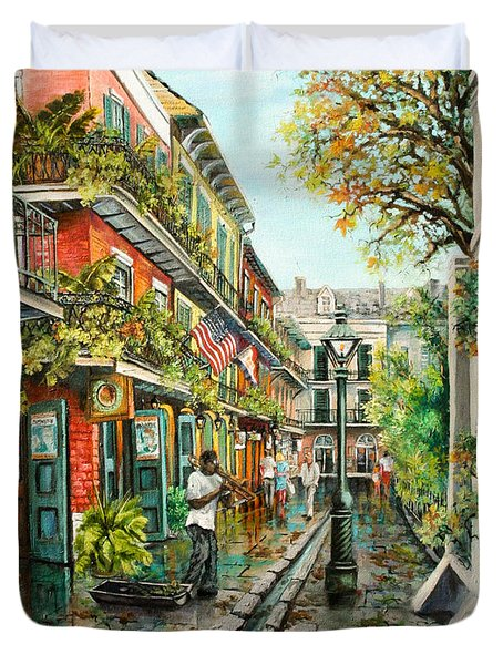 Alley Jazz Duvet Cover by Dianne Parks