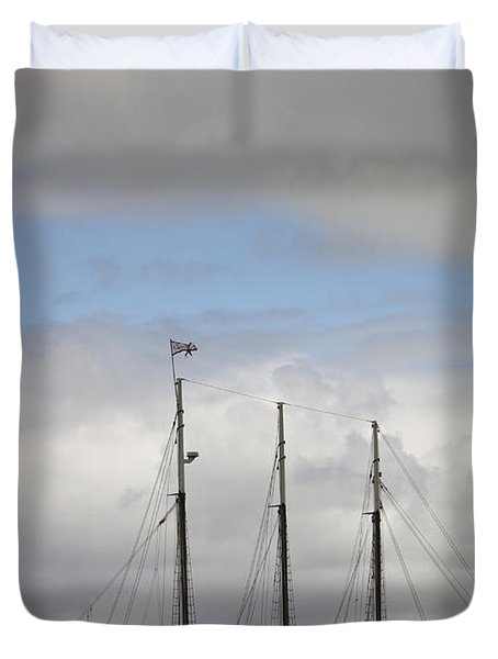Alliance Charter Schooner Duvet Cover by Teresa Mucha