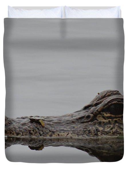 Alligator Eyes Duvet Cover by Dan Sproul