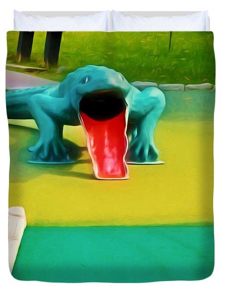 Alligator Duvet Cover by Lanjee Chee