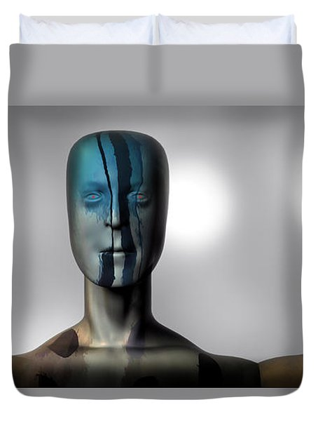 Almost Man In The Middle Duvet Cover by Bob Orsillo