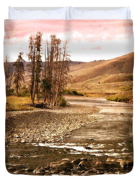 Along The Larmar River 2 Duvet Cover by Marty Koch
