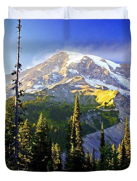 Alpine Glow 2 Duvet Cover by Marty Koch