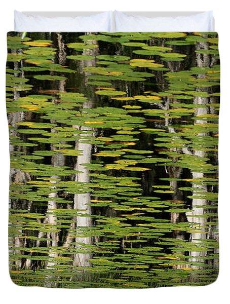 Altered Reflections Duvet Cover by Howard Ferrier