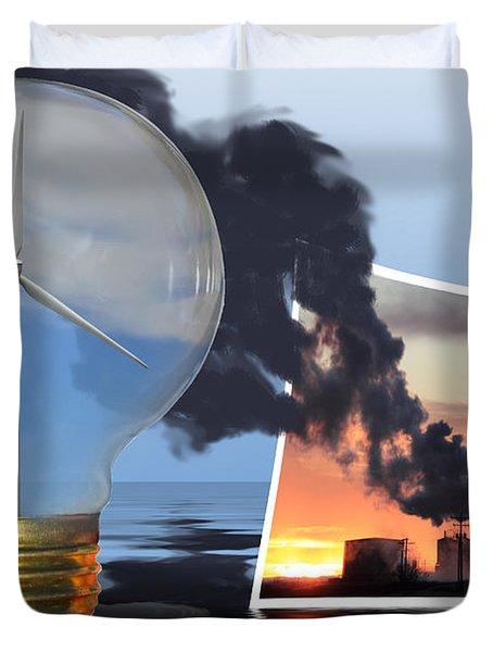 Alternative Energy Duvet Cover by Shane Bechler