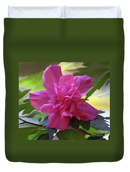 Althea Hibiscus I Duvet Cover by Patricia Griffin Brett